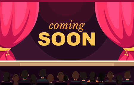 Coming soon flat vector banner template