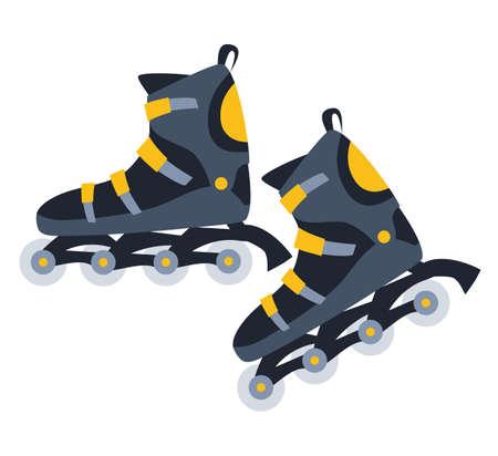 Roller skates flat vector illustration