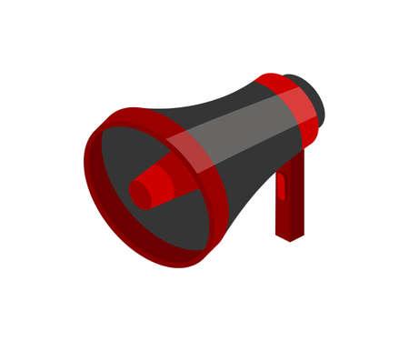 Loudspeaker isometric vector illustration Ilustração