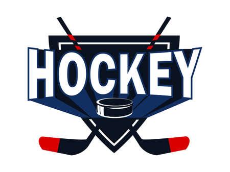 Ice hockey league flat vector template