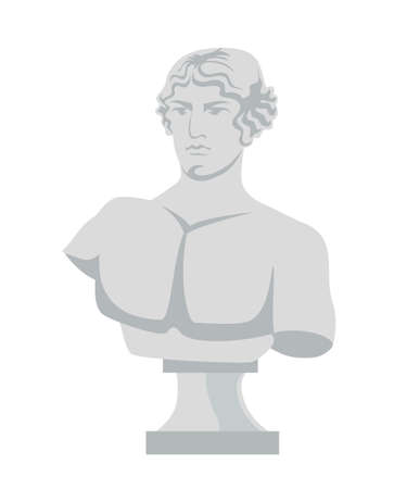 Plaster bust flat vector illustration 向量圖像