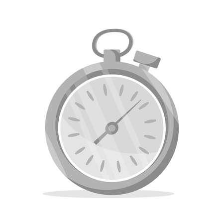 Soccer stopwatch flat vector illustration Çizim