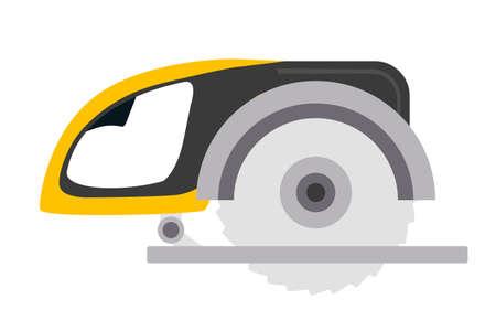 Rotary saw flat vector illustration