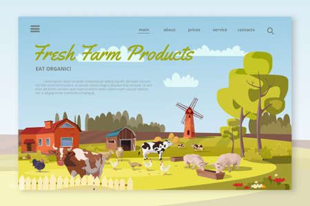 Fresh Farm Products landing page layout