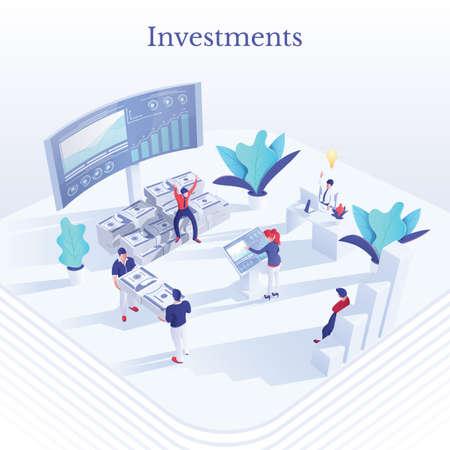 Money investment social media banner concept