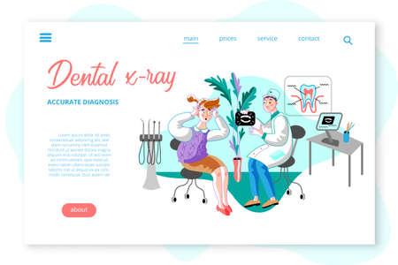 Dental x-ray webpage template