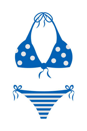 Swimsuit vector cartoon illustration