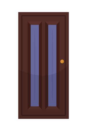 House door flat vector illustration