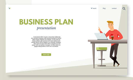 Financial literacy courses landing page template