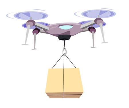 Drone carrying box flat vector illustration Ilustração