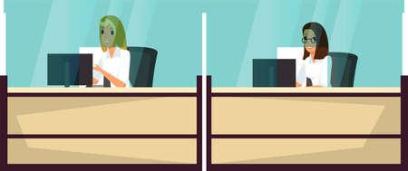 Customer service flat vector illustration