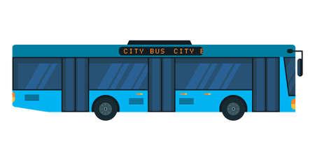 City bus flat vector illustration