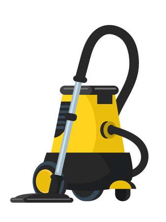Vacuum cleaner flat vector illustration