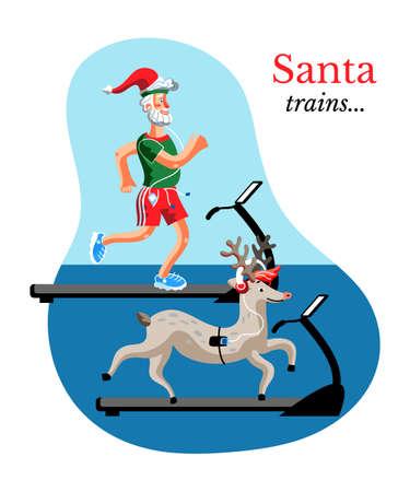 Santa training banner template