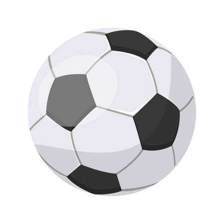 Realistic modern soccer red and white ball item Иллюстрация