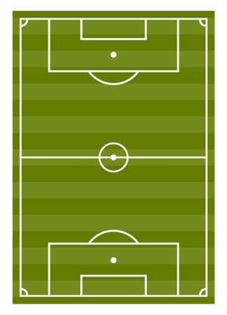 Football pitch flat vector illustration