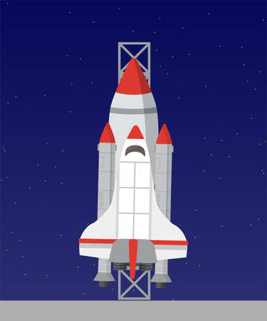 Spaceship flat vector illustration