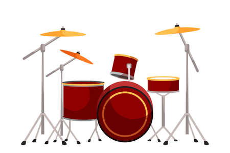 Drum kit flat vector illustration 向量圖像
