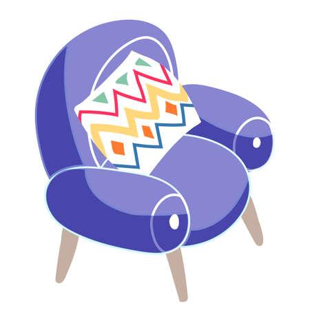 Armchair furniture for playroom in kindergarten