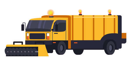 Snow removal truck machine for highway service