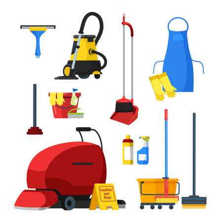 Cleaning supplies tools equipment accessories set
