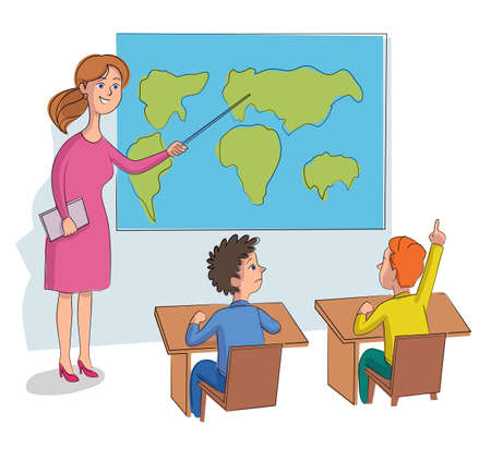 Vector character illustration elementary school education