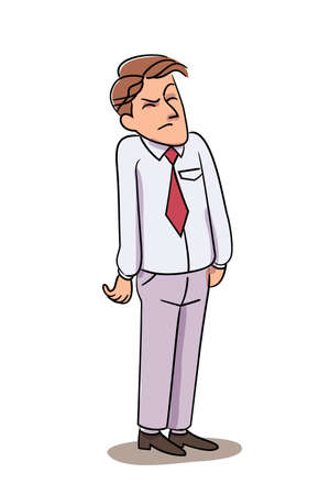 Vector character illustration people suffer anger concept Illustration