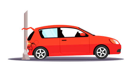Vector character illustration traffic accident
