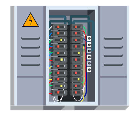 Electrical panel isolated on white background