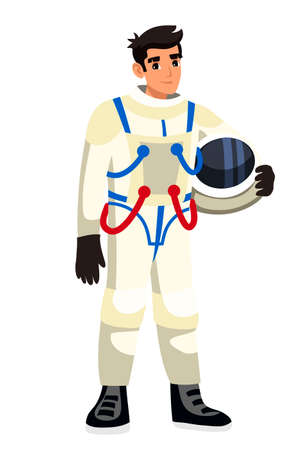 Vector astronaut isolated on white background