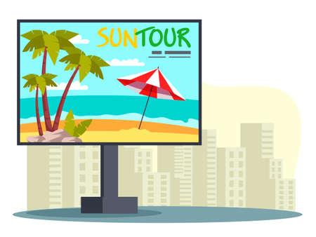 City billboard advertising summer vacation tour