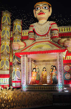 pooja: Pandal decoration in Durga Puja festival