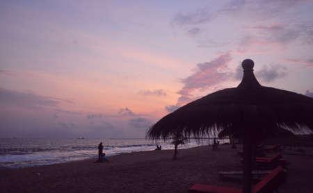 atlantic: sunset over atlantic sky Stock Photo