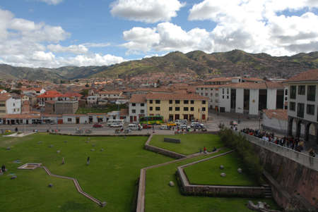 cuzco: View of Cuzco parks and houses