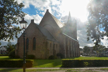 Sint Jacobus - Jacobuskerk - an evangelical reformed church in Renesse on Schouwen-Duiveland, province of Zeeland, the Netherlands in sunlight