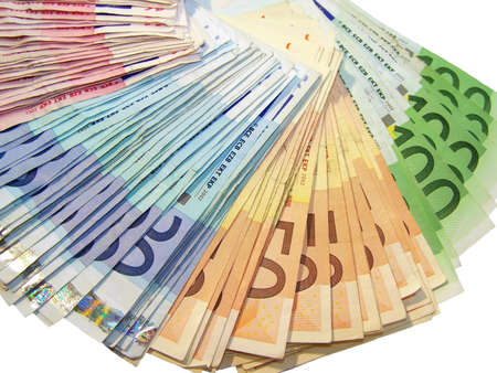 Europäische Währung  Standard-Bild
