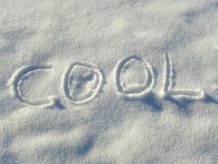 writ: Letters in the snow Stock Photo