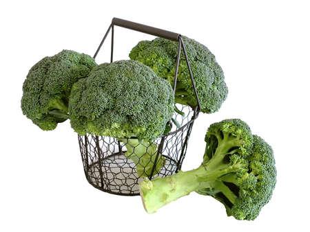 Bild von Broccoli Kohl auf weißem
