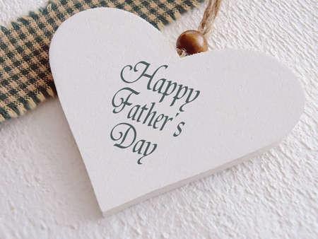 Herz aus Holz für Vatertag