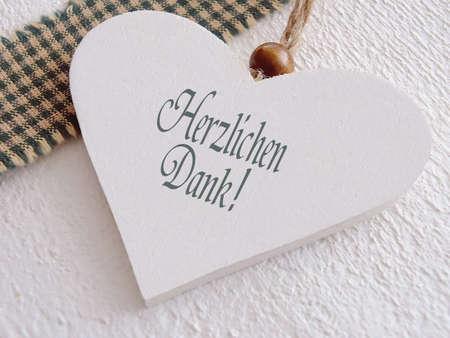 Danke, dass Sie mit Deutsch Text zu signieren