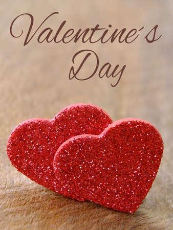 Zwei Herzen zum Valentinstag