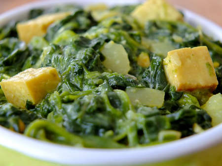 Image of indian palak paneer Standard-Bild