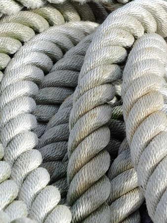 Bild von einem alten Boot Seil
