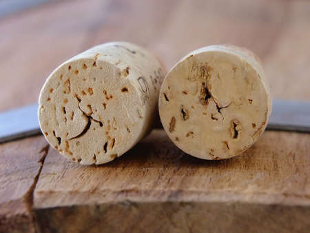 Image of two wine corks Standard-Bild