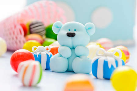 little sugar teddy with sweets