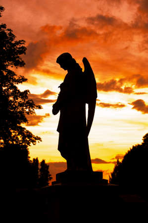 guardian: a silhouette of an angle statue