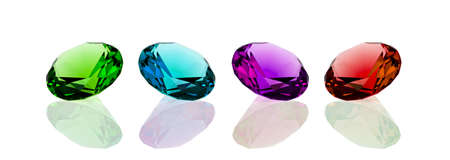 four diamonds on white surface photo