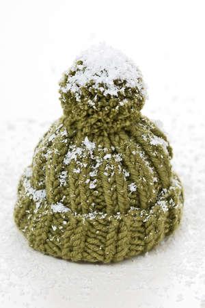 bobble: a bobble cap with artificial snow