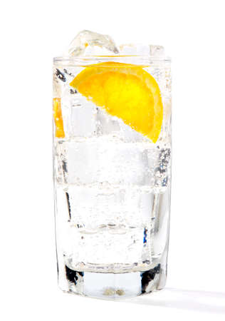 ice cold drink in studio on white background