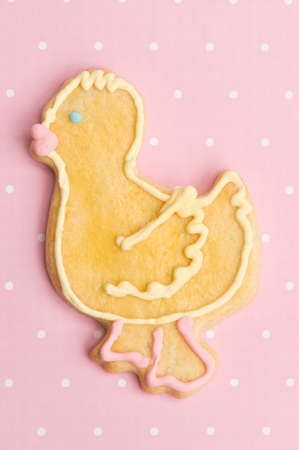 decorated easter cookies in studio Stock Photo